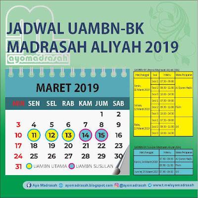 Jadwal UAMBN MA 2019