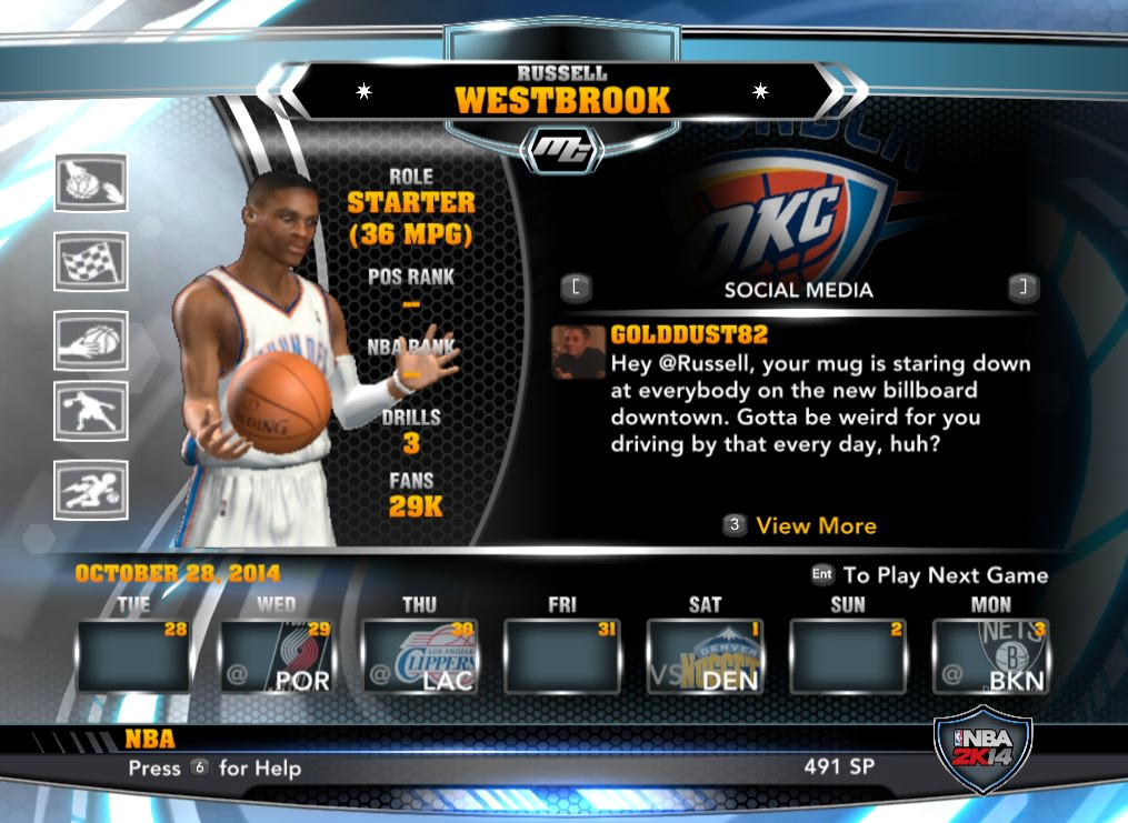 nba 2k14 Russell Westbrook mycareer patch download hoopsvilla
