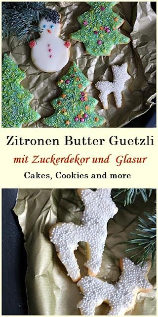 Rezept für Zitronen Butter Guetzli - Weihnachtsgebäck, Cookies, Plätzchen