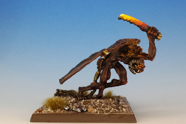 C-29 Winged Fire Demon, Citadel (1985, sculpted by Nick Bibby)
