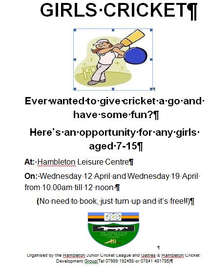 Girls Cricket Coaching in Easter Holidays (it is free)