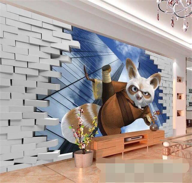 tranh tường phòng khách kungfu panda