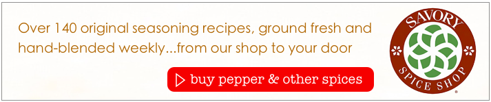 Where to buy black and white pepper online?  order spices online at Savory Spice Shop