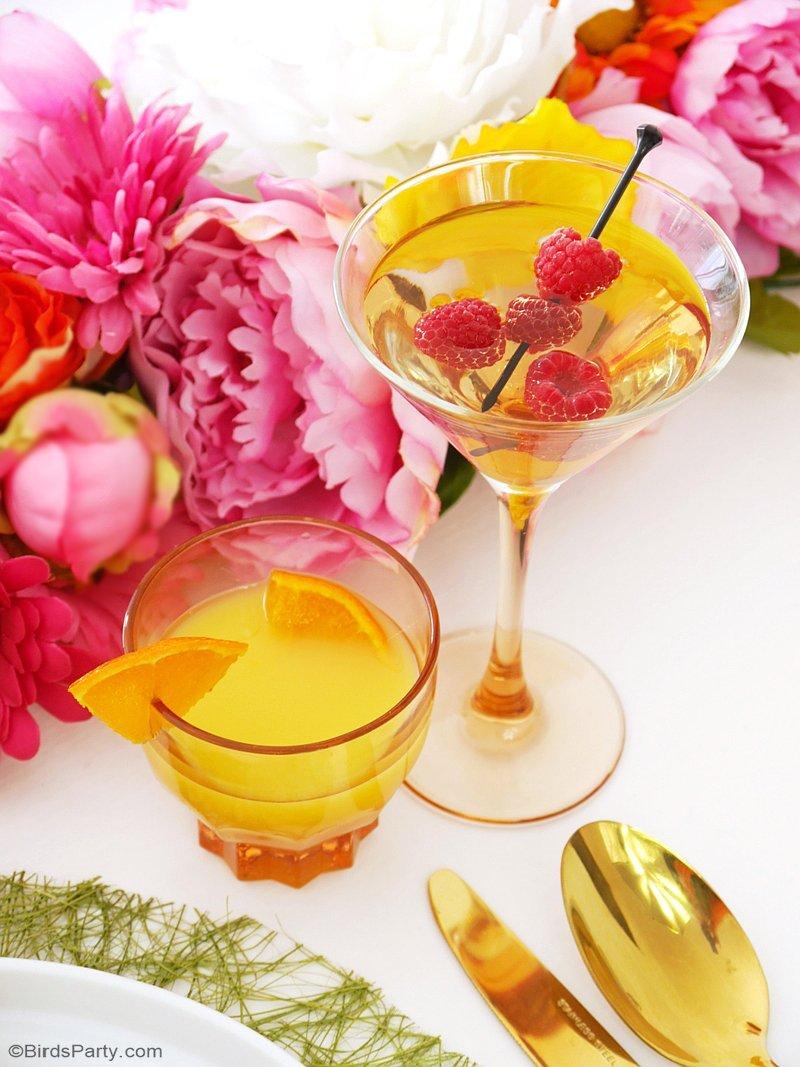 Un Brunch de Pâques Floral & Moderne - des idées faciles à faire à la maison avec recettes, décorations de table DIY et menu de fête! via BirdsParty.fr @BirdsParty