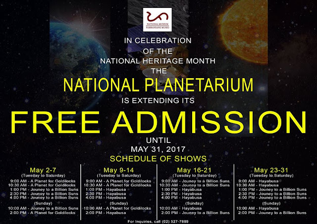 Planetarium Manila Philippines Free entrance and Schedule