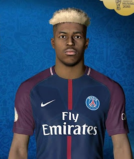 PES 2017 Faces Presnel Kimpembe by Ben Hussam FaceMaker