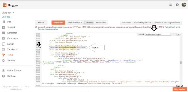 Cara Menghilangkan Bagian Tertentu Pada edit html