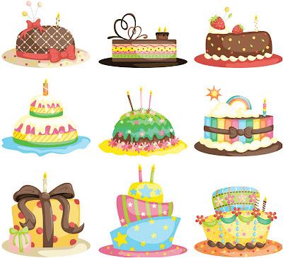 vector con 9 modelos de tartas