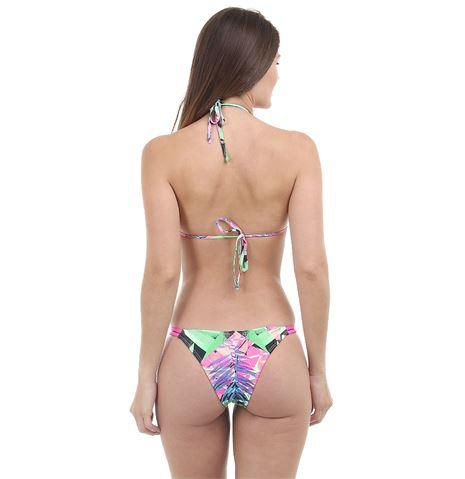 Loja Marisa Maiô feminino Strappy Bra com estampa de folhas