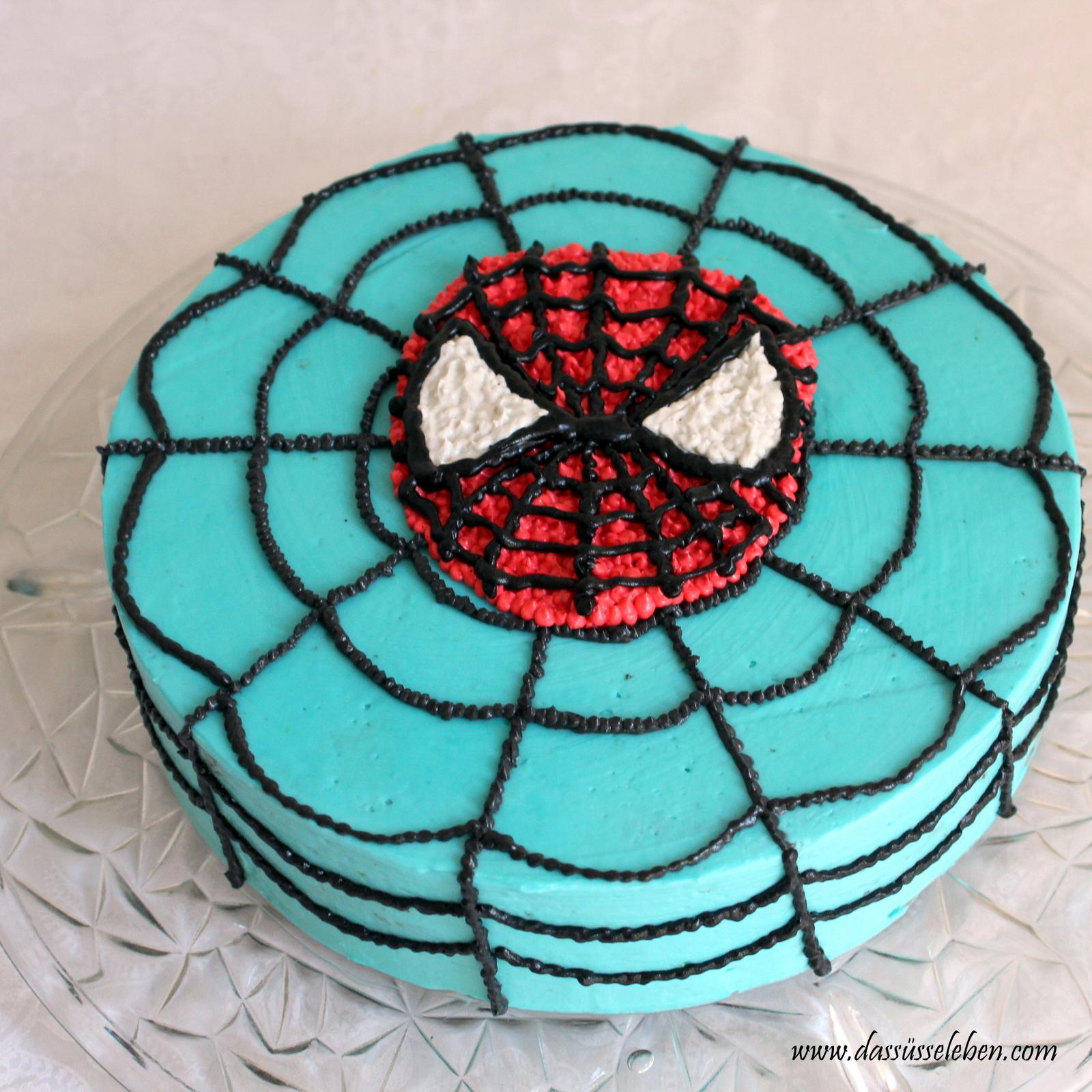 Rezept Spiderman Torte Das Susse Leben