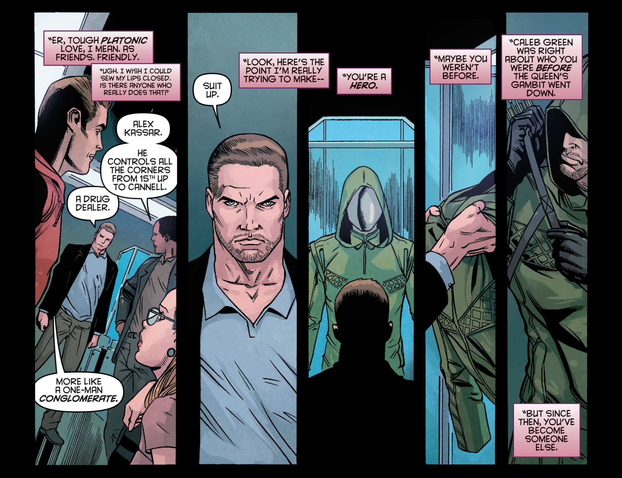 Read online Arrow: Season 2.5 [I] comic -  Issue #23 - 17