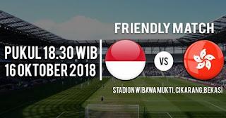 Jadwal Timnas Indonesia vs Hong Kong Selasa (16/10/2018) & Prediksi Susunan Pemain