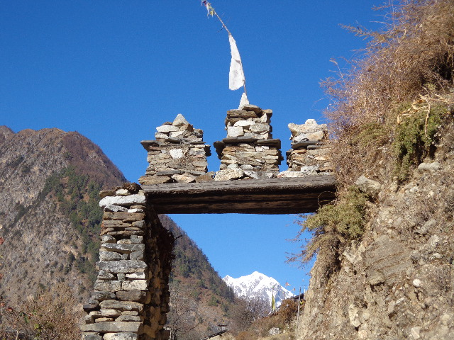 Lho is the beautiful village in the Manaslu trekking Nepal.