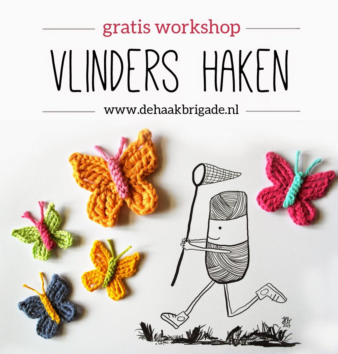 Haken Voor Kinderen Gratis Workshop Vlinders Haken