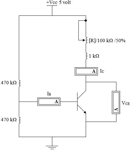 rangkaian karakteristik transistor