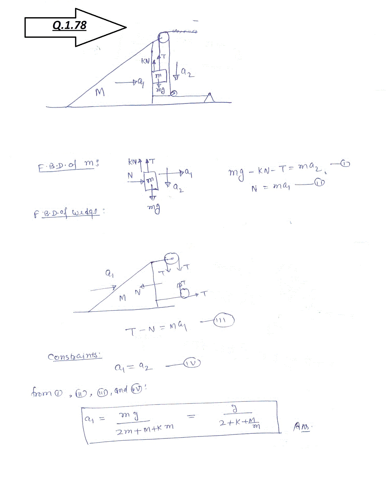 SOLUTIONS TO I E IRODOV BY RKH: problem 1.78