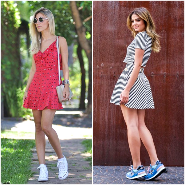 Looks com Tênis vestido all star