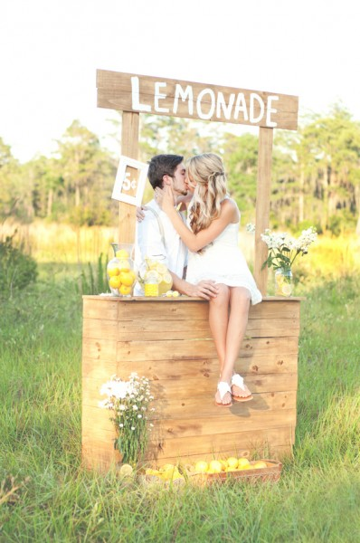 Life Of A Vintage Lover Lemonade Stand Engagement Shoot