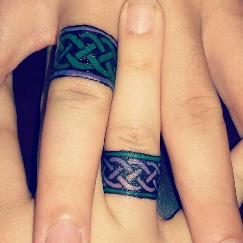 wedding ring finger tattoo for couples çiftler için yüzük parmağı dövmeleri