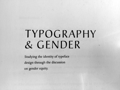 feminism and graphic design typography gender