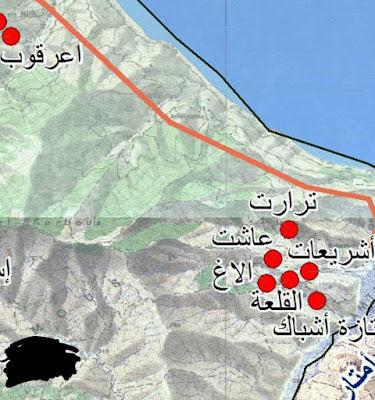 خريطة مجموعة مدارس أعرقوب..مديرية شفشاون..