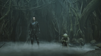 A cutscene in the Force Unleashed game on PC, great visuals and graphics