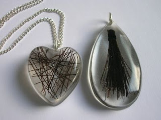 Horse hair jewellery - Horse hair necklace and keyring