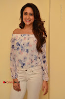 Actress Pragya Jaiswal Latest Pos in White Denim Jeans at Nakshatram Movie Teaser Launch  0061.JPG