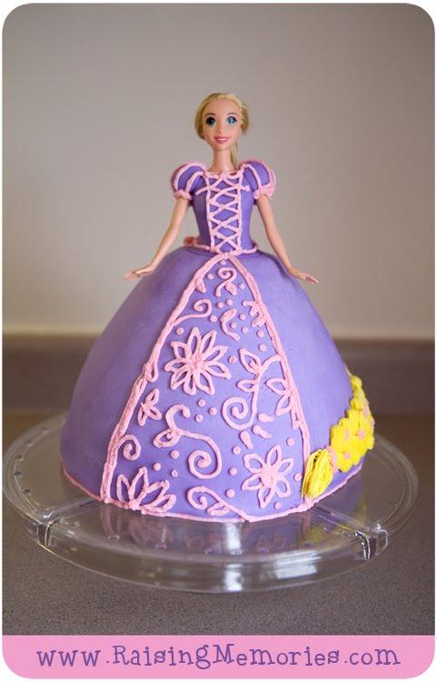 Tangled Barbie Cake