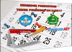 Kalender Pendidikan 2016/2017 di Sertai Hitungan Hari dan Minggu Efektif