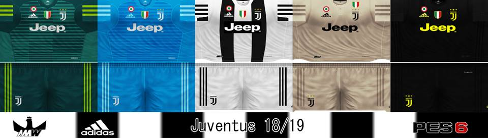 85f01addf ultigamerz  PES 6 Juventus 2018 19 GDB Kits v2