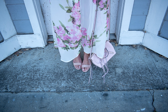 blush strappy patent heels