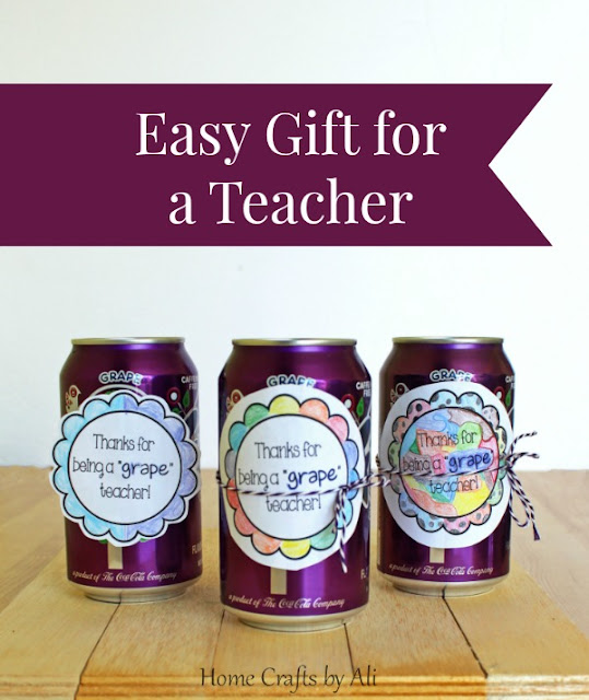 easy gift for teacher appreciation quick kids craft free printable