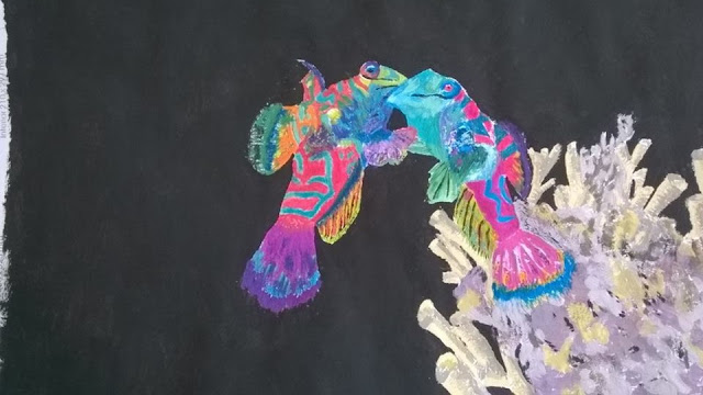 Mandarin Fish painting by Ellis Derkx