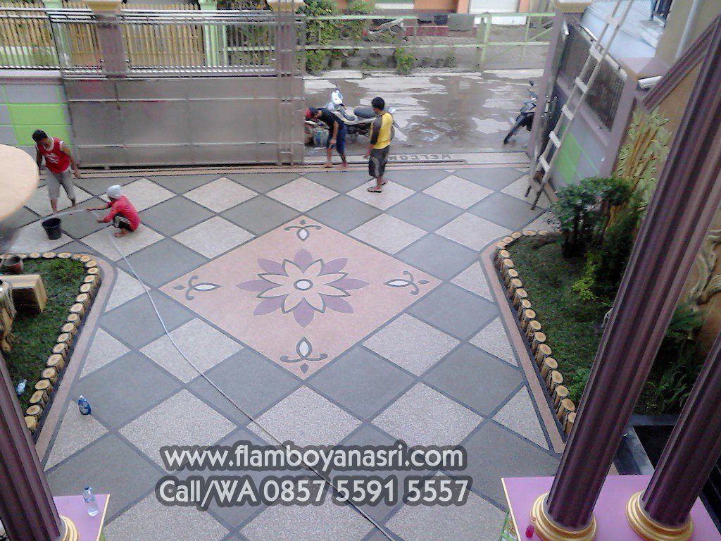 Cara Buat Lantai Batu Koral Tukang Taman Surabaya