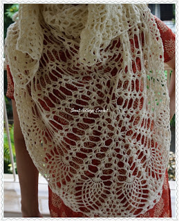 free crochet pineapple shawl pattern