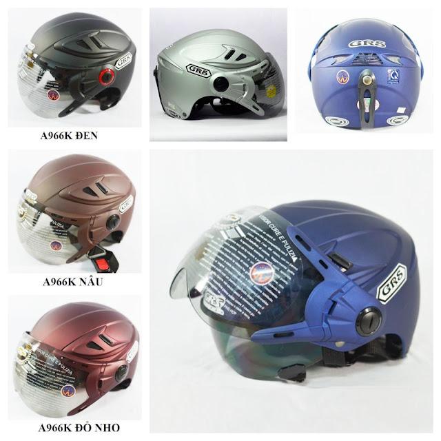 Mũ bảo hiểm GRS A966K 2 kính chống nắng cực tốt