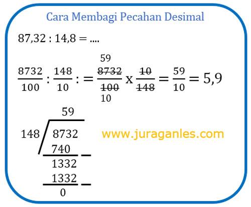 01/03/2017· pecahan desimal adalah bilangan yang didapat dari pembagian suatu bilangan dengan sepuluh, seratus, seribu, dan seterusnya. Soal Pembagian Pecahan Desimal Dari Yang Mudah Sampai Yang Sulit Juragan Les