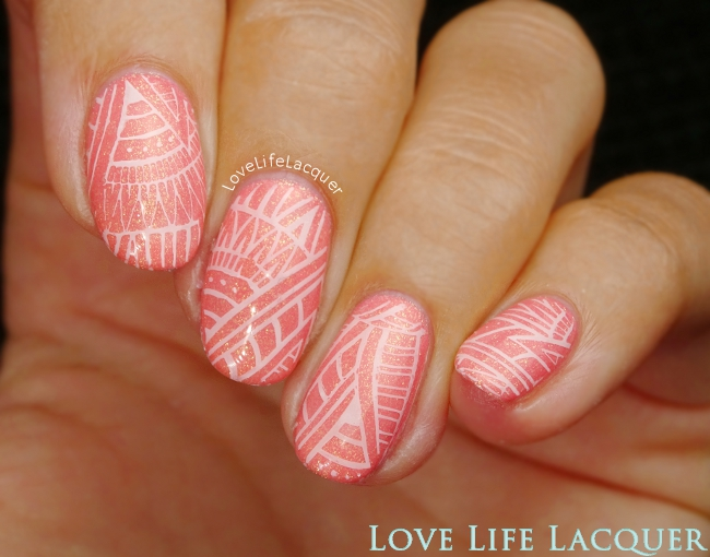 Born Pretty Store Stamping Pink Gellac Glamorous Peach
