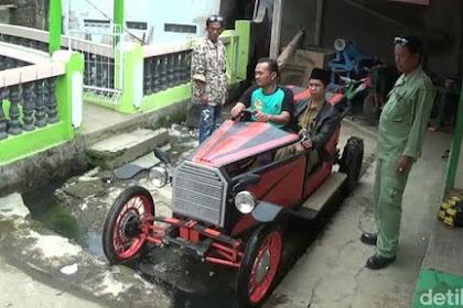 Kreatif Banget! Dari Barang-Barang Bekas Terciptalah Mobil 'Royal Wedding'