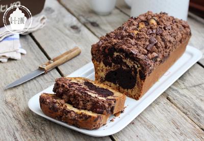 cake marbré triplement chocolat