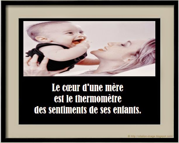 Une citation sur les mamans en image