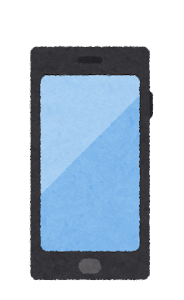携帯電話のイラスト(4世代)