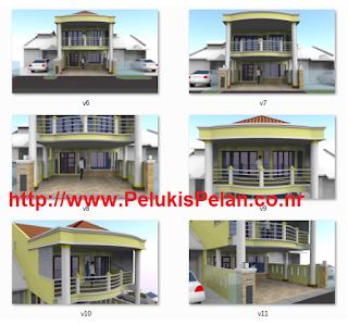 ubahsuai rumah teres setingkat kepada 2 tingkat - desain