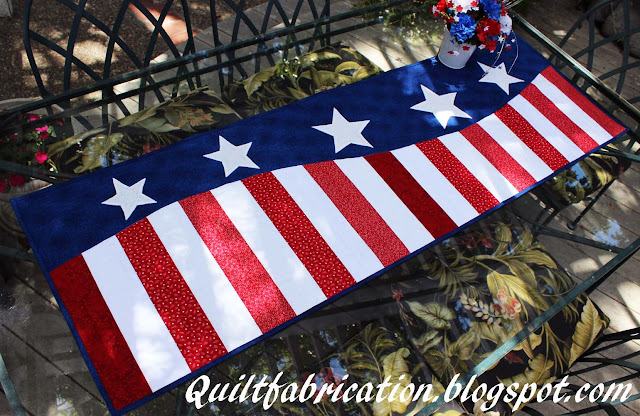 Patriotic Wave table runner