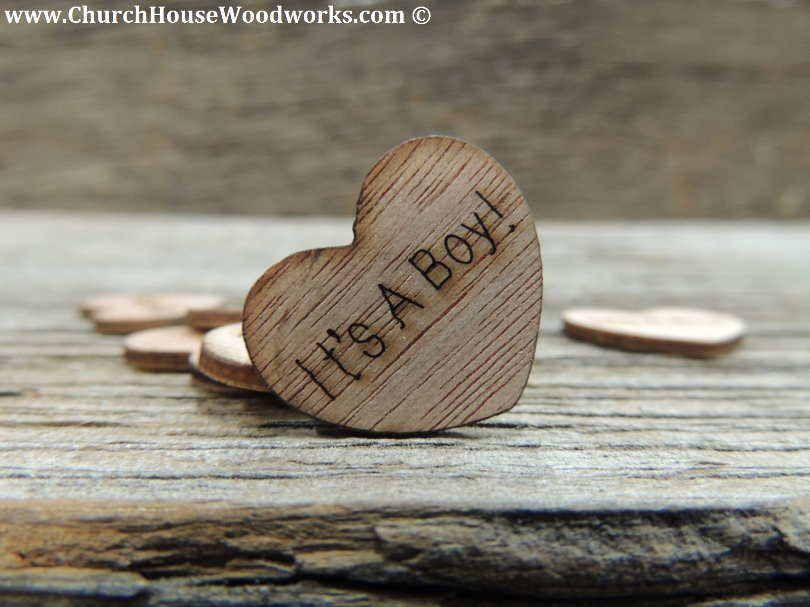 Rustic 4 Weddings Its A Boy Wood Heart Confetti For Baby Showers