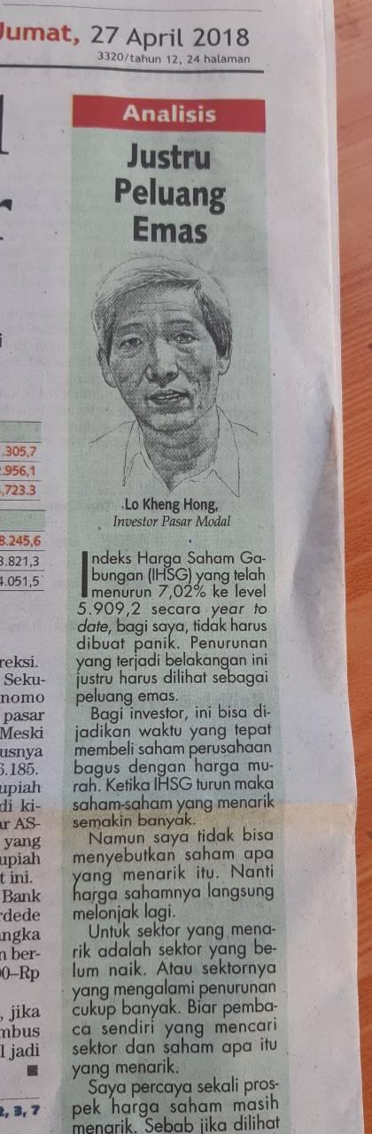 Apa Kata Lo Kheng Hong Saat Pasar Panik?