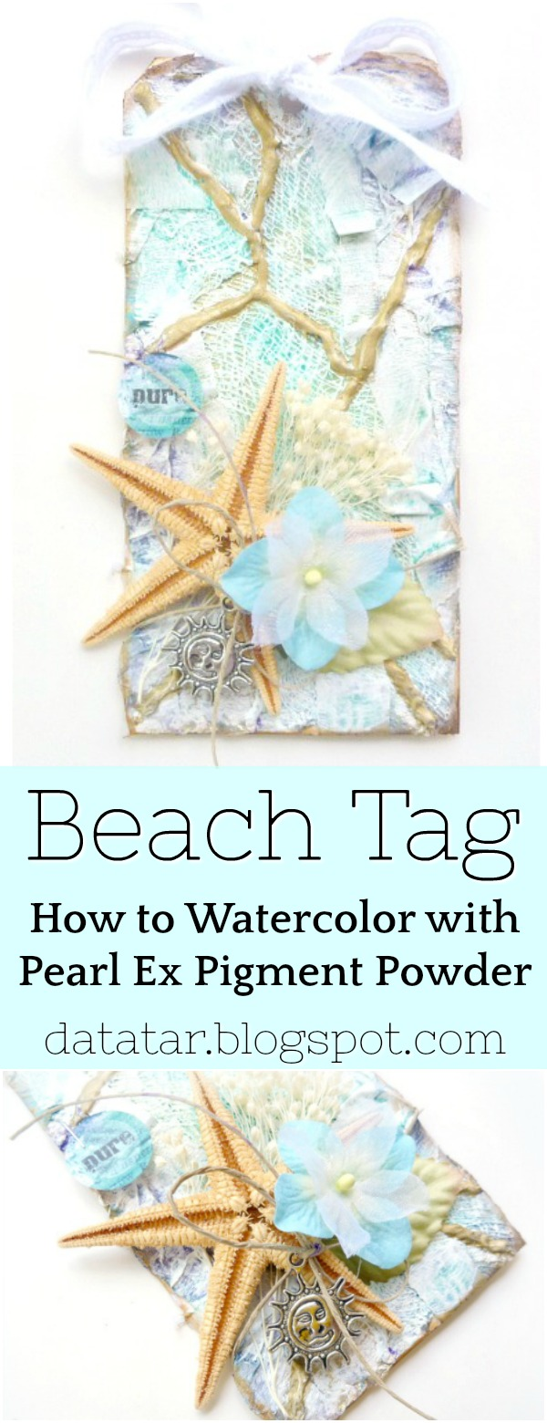 Mixed Media Beach Tag Tutorial with Jacquard Products