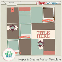 Hopes & Dreams Pocket Template by JB Studio