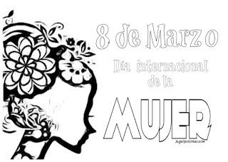 dibujos inéditos para colorear el día internacional de la mujer